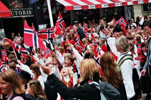 This is how the celebrations look in Norway. Photo: Evelin Augustafson