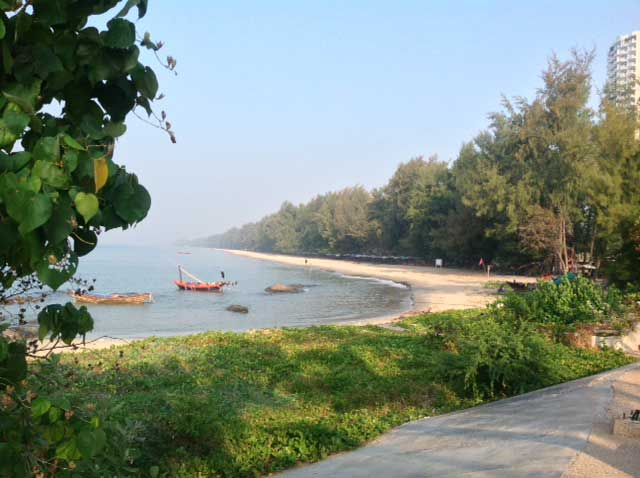 Mae Ramphung Beach is Rayong's longest beach.