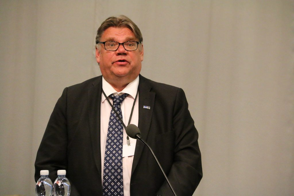 Finland's Foreign Minister, TImo Soini, in Helsinki (Photo: OSCE Parliamentary Assembly)