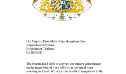 King  Carl Gustaf sent condolence letter to King Mahavajiralongkorn